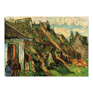 Van Gogh Thatched Sandstone Cottages in Chaponval Card