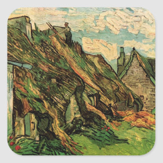 Van Gogh; Thatched Sandstone Cottages in Chaponval Sticker
