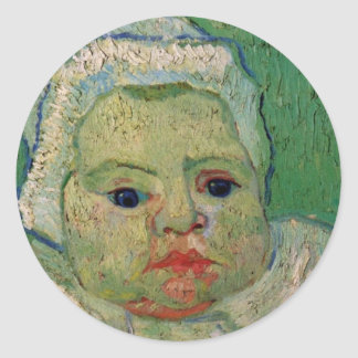 Van Gogh; The Baby Marcelle Roulin Classic Round Sticker