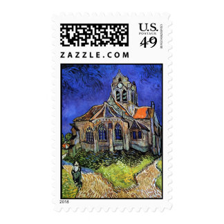 Van Gogh - The Church at Auvers Postage Stamp