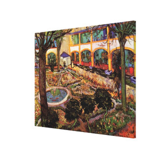 Van Gogh The Courtyard of the Hospital at Arles Canvas Print