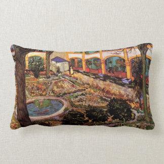 Van Gogh The Courtyard of the Hospital at Arles Lumbar Pillow