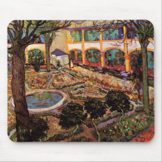 Van Gogh; The Courtyard of the Hospital at Arles Mouse Pads