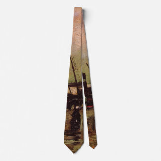 Van Gogh The De Ruijterkade in Amsterdam Neck Tie