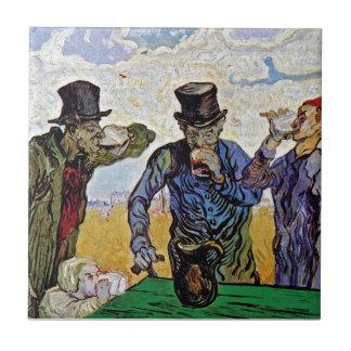 Van Gogh - The Drinkers Ceramic Tile