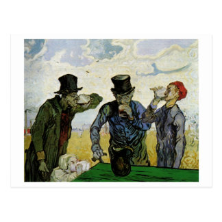 Van Gogh The Drinkers (F667) Fine Art Postcard