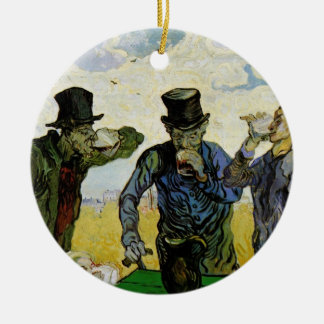 Van Gogh, The Drinkers, Vintage Post Impressionism Ceramic Ornament