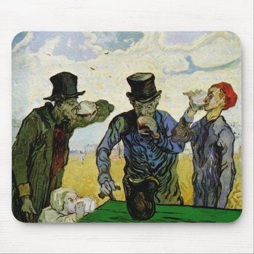 Van Gogh, The Drinkers, Vintage Post Impressionism Mouse Pad