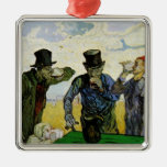 Van Gogh, The Drinkers, Vintage Post Impressionism Christmas Ornaments
