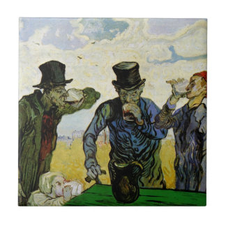 Van Gogh; The Drinkers, Vintage Post Impressionism Tile