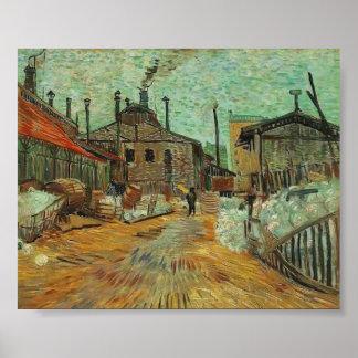 Van Gogh - The Factory at Asnieres Poster