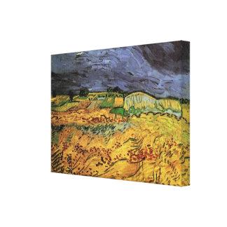 Van Gogh The Fields, Vintage Landscape Fine Art Canvas Print