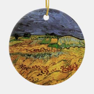 Van Gogh The Fields, Vintage Landscape Fine Art Ceramic Ornament