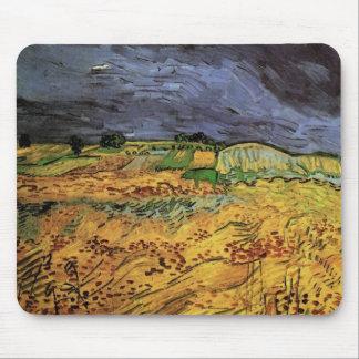 Van Gogh The Fields, Vintage Landscape Fine Art Mouse Pad