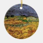 Van Gogh; The Fields, Vintage Post Impressionism Ornament