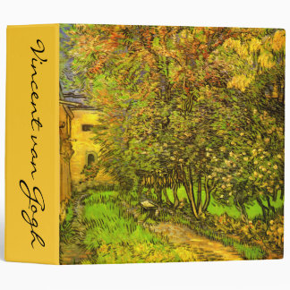 Van Gogh: The Garden of Saint-Paul Hospital 3 Ring Binder