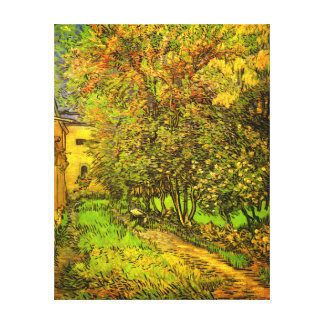 Van Gogh The Garden of Saint-Paul Hospital Stretched Canvas Prints