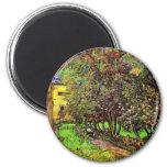 Van Gogh - The Garden Of Saint-Paul Hospital 2 Inch Round Magnet