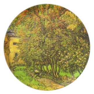 Van Gogh: The Garden of Saint-Paul Hospital Melamine Plate