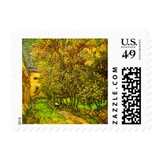 Van Gogh: The Garden of Saint-Paul Hospital Postage Stamps