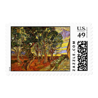Van Gogh - The Garden Of Saint Paul Hospital Postage Stamps