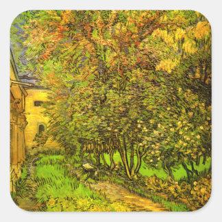 Van Gogh: The Garden of Saint-Paul Hospital Square Sticker