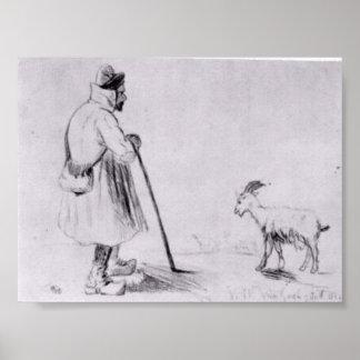 Van Gogh - The Goat Herd Poster