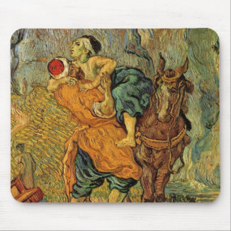 Van Gogh The Good Samaritan, Vintage Impressionism Mouse Pad