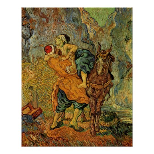 Van Gogh The Good Samaritan, Vintage Impressionism Poster