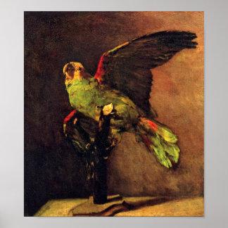 Van Gogh - The Green Parrot Poster