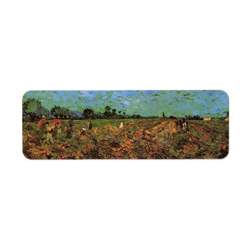 Van Gogh The Green Vineyard Vintage Fine Art Label