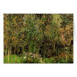 Van Gogh The Grove, Vintage Impressionism Art Greeting Card