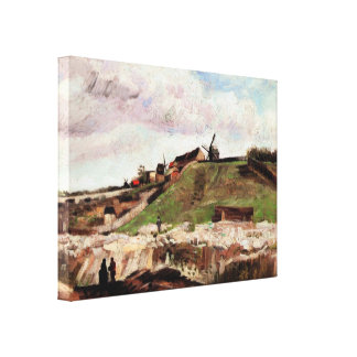 Van Gogh; The Hill of Montmartre with Quarry Canvas Prints