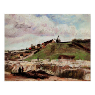 Van Gogh; The Hill of Montmartre with Quarry Poster