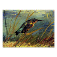Van Gogh The Kingfisher Poster
