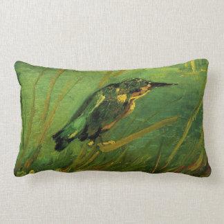 Van Gogh The Kingfisher, Vintage Impressionism Art Lumbar Pillow