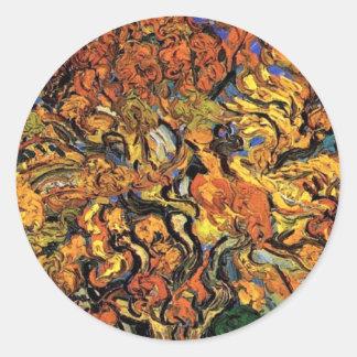Van Gogh - The Mulberry Tree Classic Round Sticker