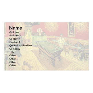 Van Gogh - The Night Cafe Double-Sided Standard Business Cards (Pack Of 100)