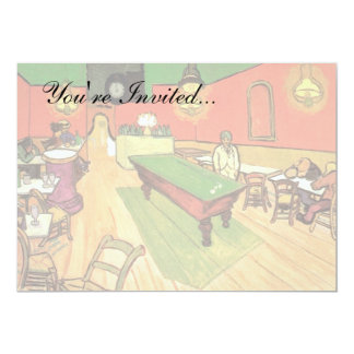 "Van Gogh - The Night Cafe In Arles 5"" X 7"" Invitation Card"