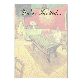 Van Gogh - The Night Cafe 5x7 Paper Invitation Card