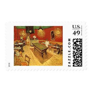 Van Gogh The Night Cafe Postage Stamp