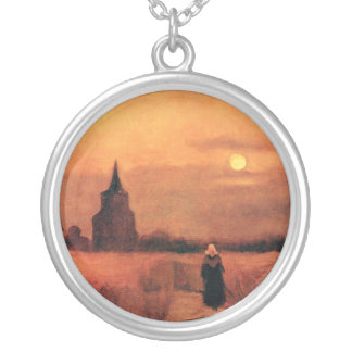 Van Gogh - The Old Tower In The Fields Personalized Necklace