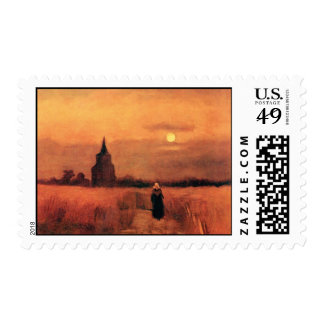 Van Gogh - The Old Tower In The Fields Postage