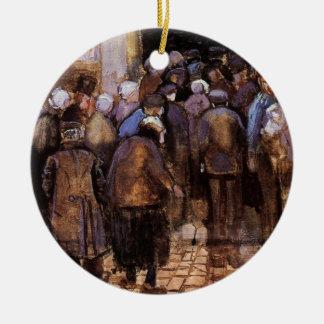 Van Gogh - The Poor And Money Ceramic Ornament