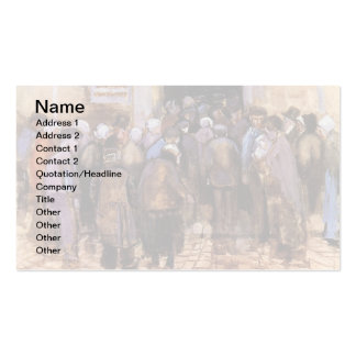Van Gogh - The Poor And Money Double-Sided Standard Business Cards (Pack Of 100)