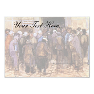 "Van Gogh - The Poor And Money 5"" X 7"" Invitation Card"