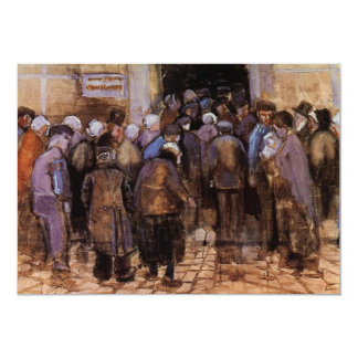Van Gogh The Poor and Money, Vintage Impressionism Card