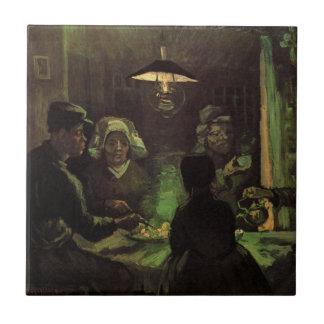Van Gogh; The Potato Eaters, Vintage Impressionism Ceramic Tile