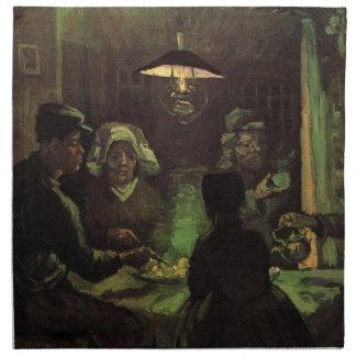 Van Gogh; The Potato Eaters, Vintage Impressionism Cloth Napkin