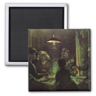 Van Gogh; The Potato Eaters, Vintage Impressionism Fridge Magnet